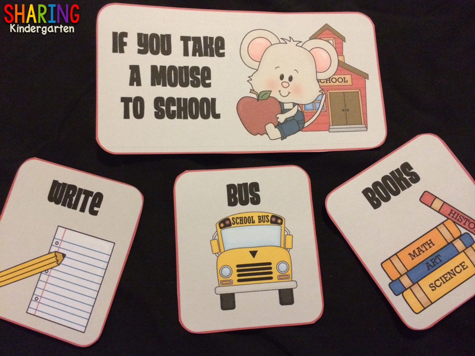 sequencing cards for If You Take a Mouse to School