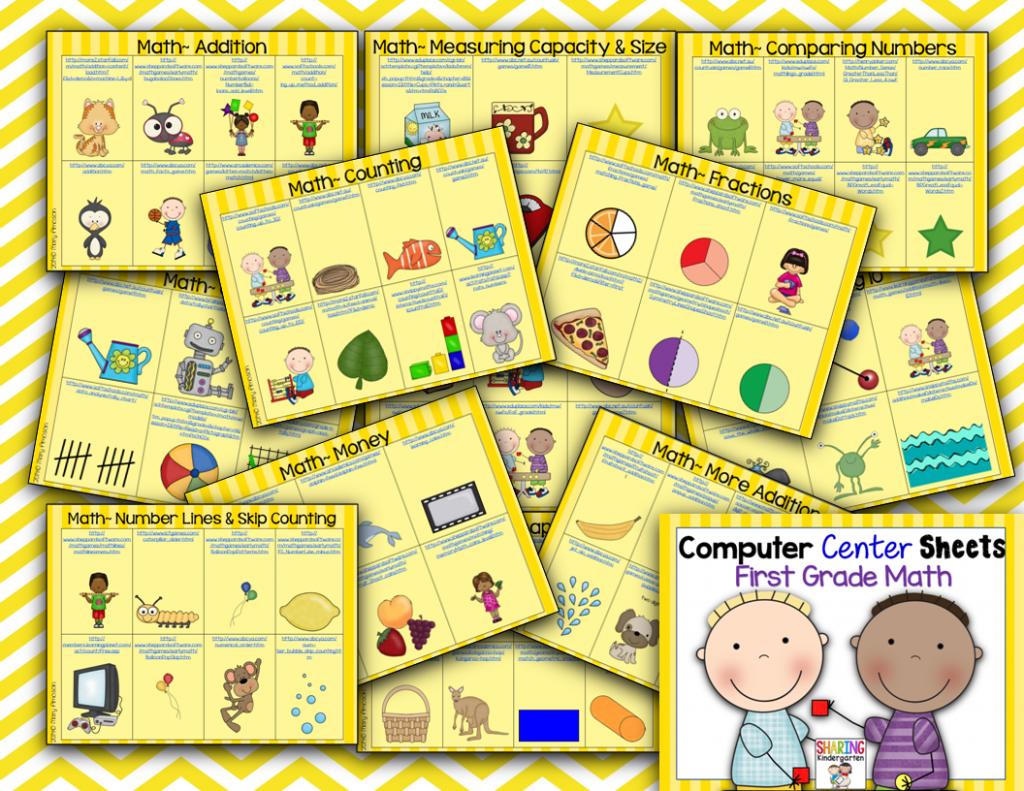http://www.teacherspayteachers.com/Product/Computer-Center-Sheets-1st-GradeMath-1348703