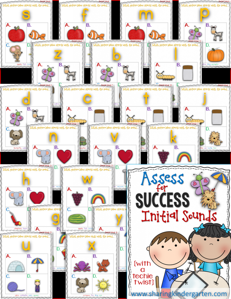 http://www.teacherspayteachers.com/Product/Assess-for-Success-Initial-Sounds-1333505