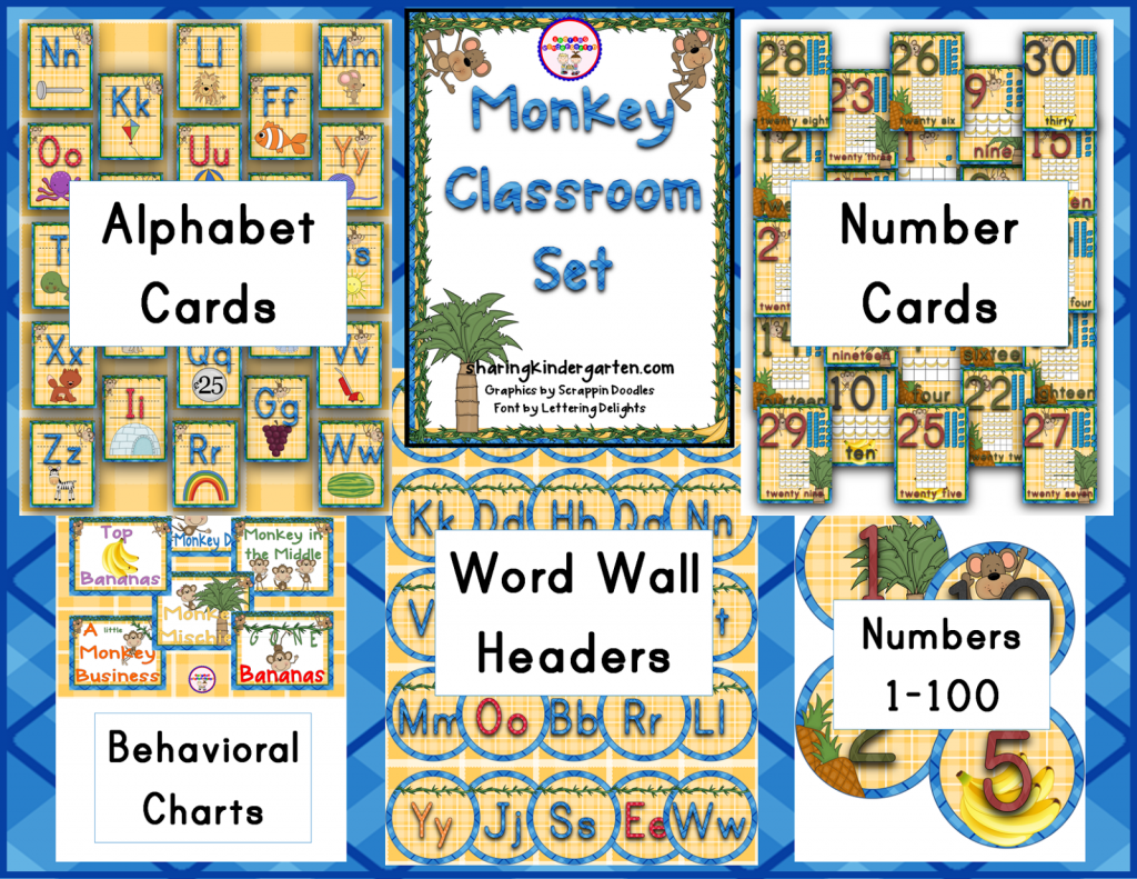 http://www.teacherspayteachers.com/Product/Monkey-Themed-Classroom-734764