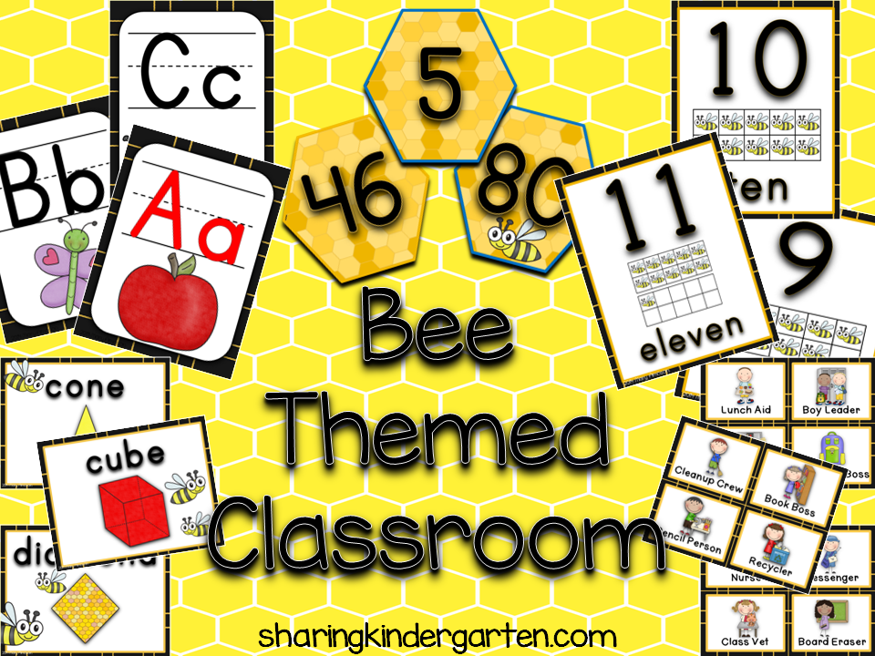 http://www.teacherspayteachers.com/Product/Bee-Themed-Classroom-1342075