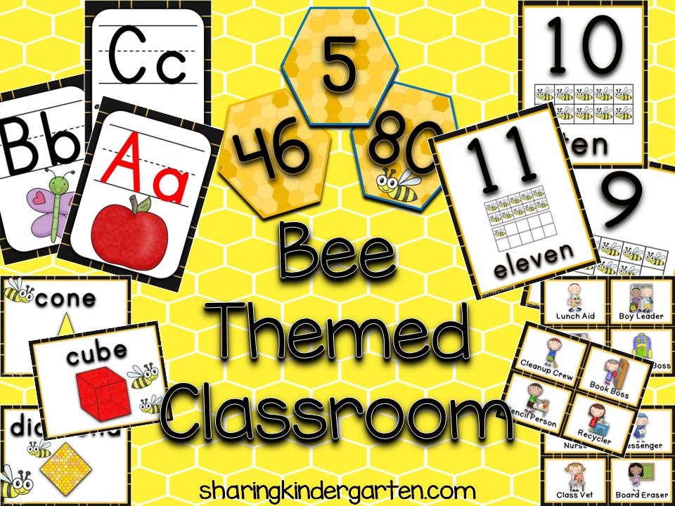 http://www.teacherspayteachers.com/Product/Bee-Themed-Classroom-1342075