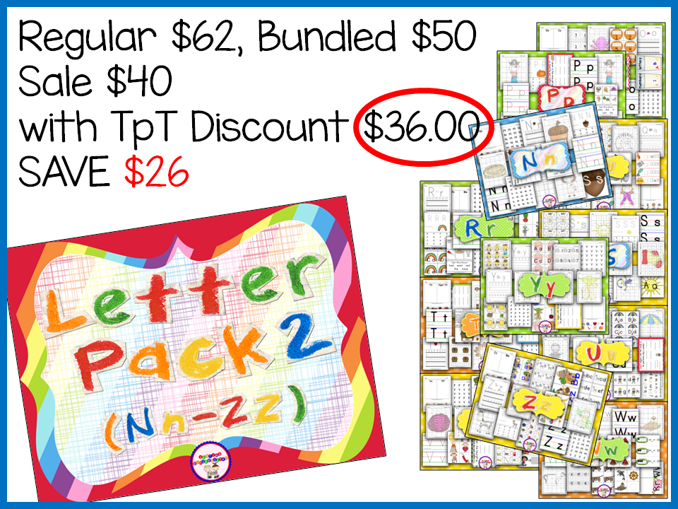 http://www.teacherspayteachers.com/Product/Letter-Pack-2-Nn-Zz-792880