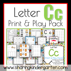 Letter Cc Print & Play Pack