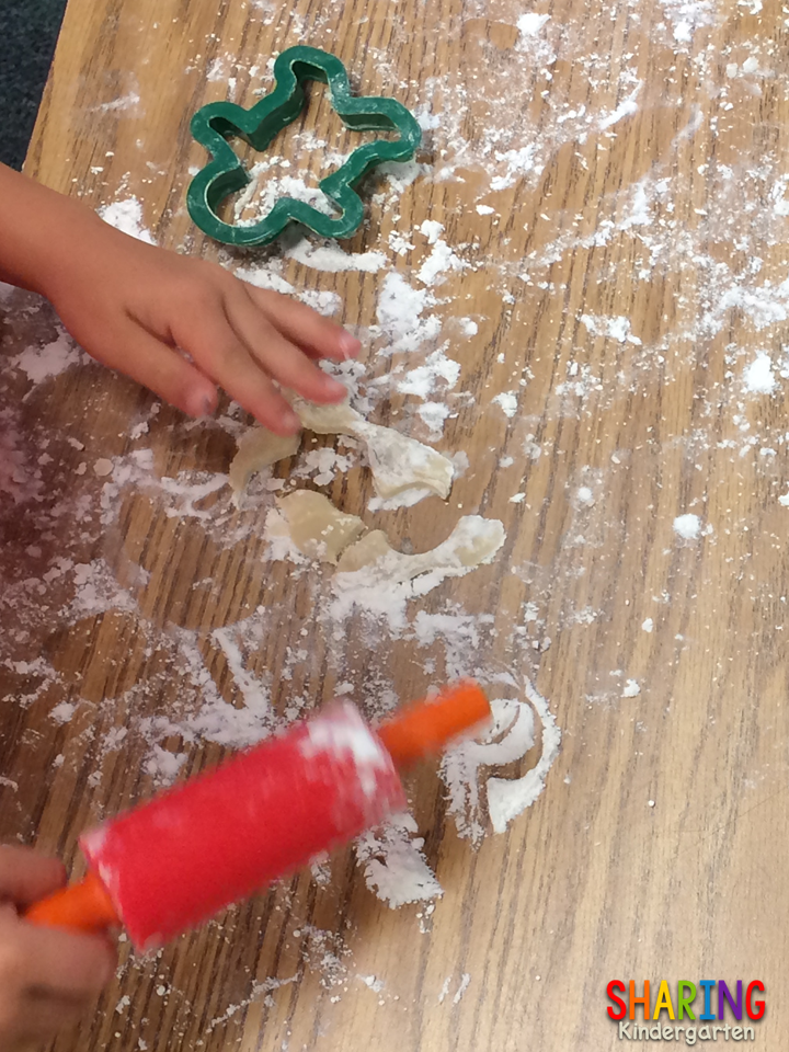 making cookies in school to tie into Gingerbread Man book