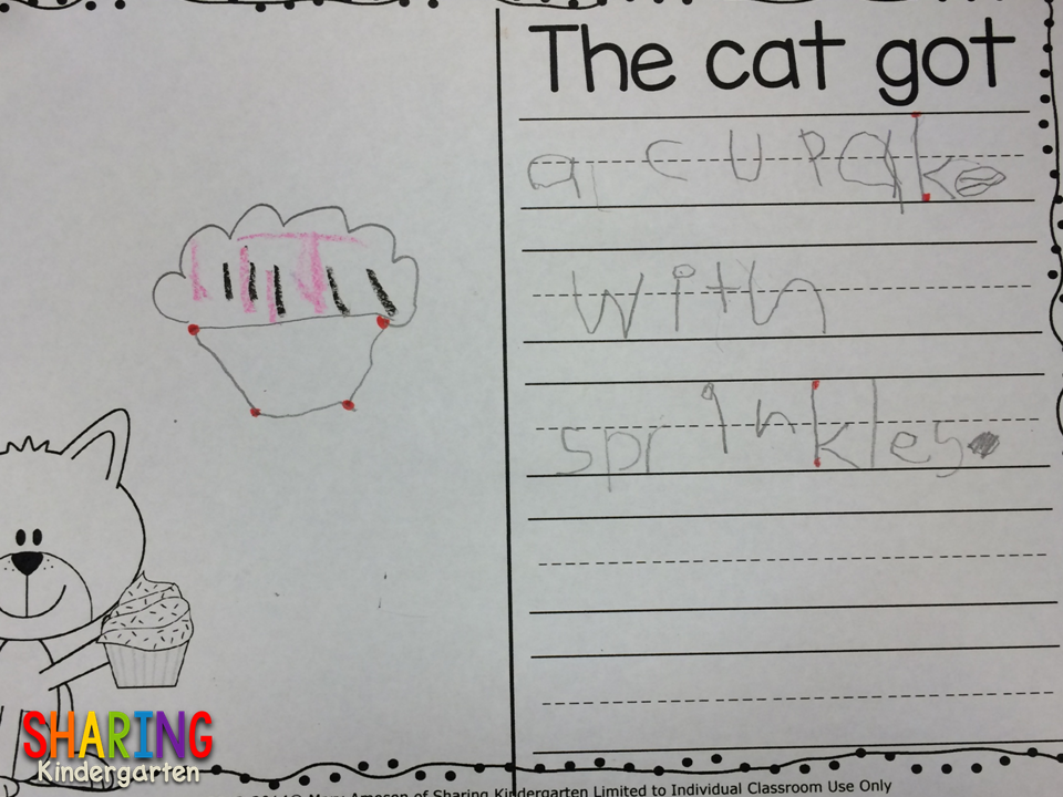 The cat got cupcakes with sprinkles.