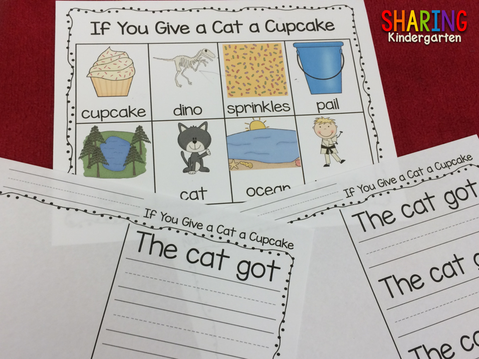 Check out this writing activity for If You Give a Cat a Cupcake