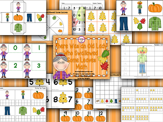 http://www.teacherspayteachers.com/Product/There-Was-an-Old-Lady-Who-Swallowed-Some-Leaves-Math-Unit-262868