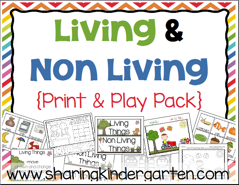 math worksheet : print  play with living and non living things  sharing kindergarten : Living And Nonliving Things Worksheet For Kindergarten