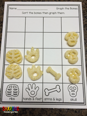graphing cheetos bones for halloween