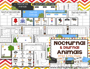 Nocturnal Animals Print & Play Pack