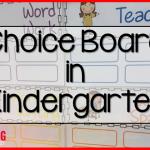 Daily 5 {Update}  Choice Board