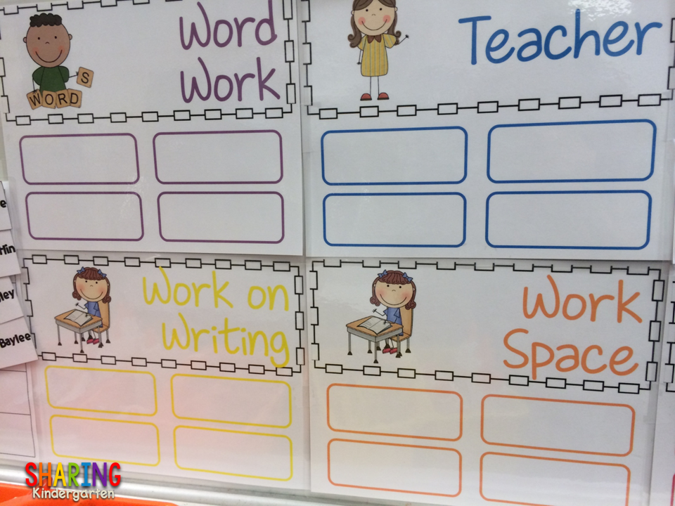 Choice Board time for kinder... how I make it easy