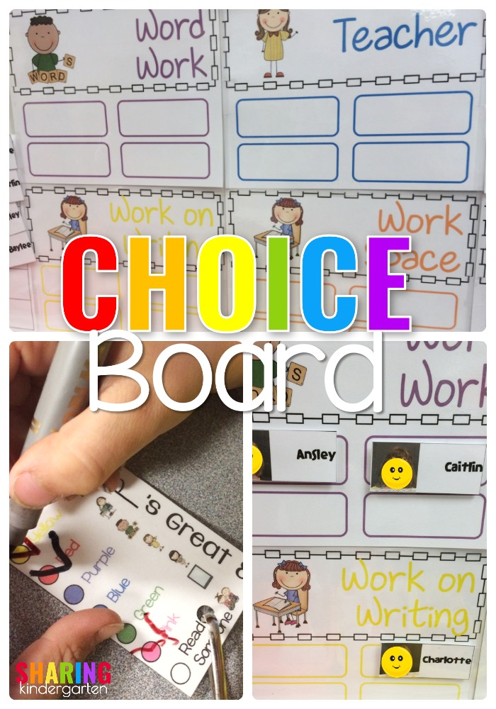Choice Board in K