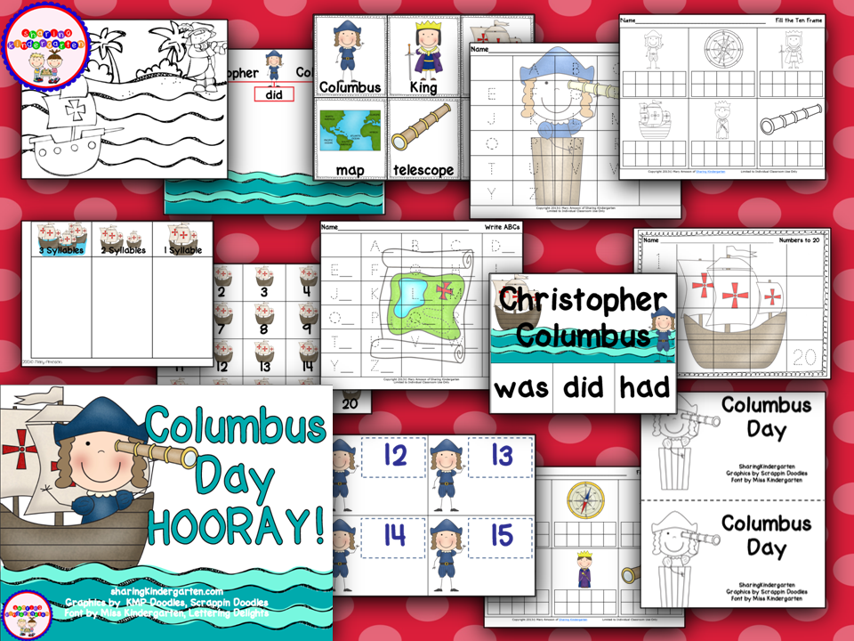 http://www.teacherspayteachers.com/Product/Columbus-Day-Hooray-322274