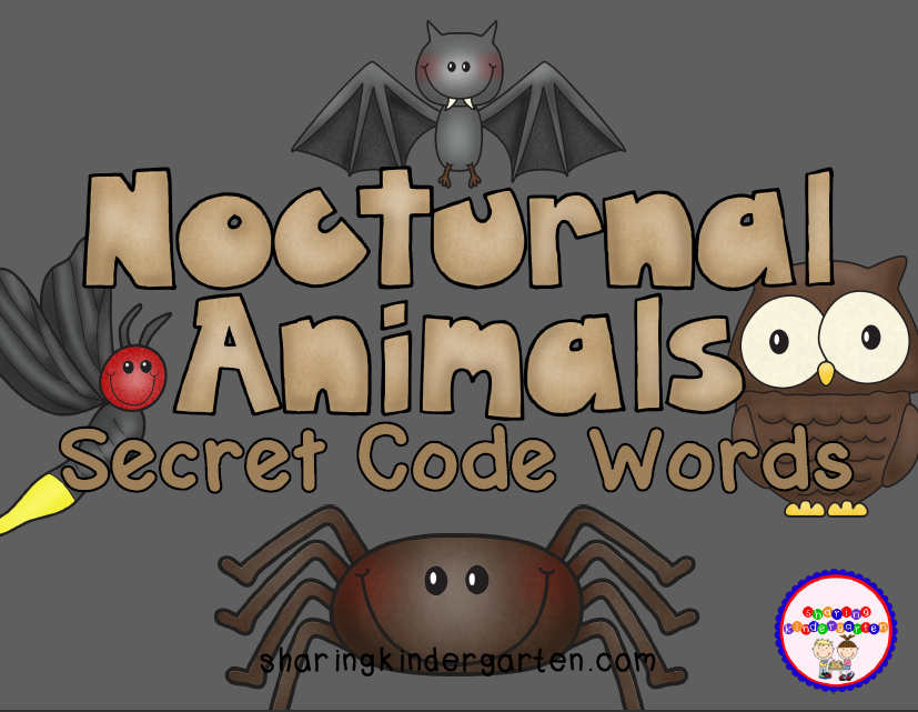 http://www.teacherspayteachers.com/Product/Nocturnal-Animals-Secret-Code-Words-938347