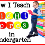 How I Teach Sight Words in Kindergarten with Sight Word Stations