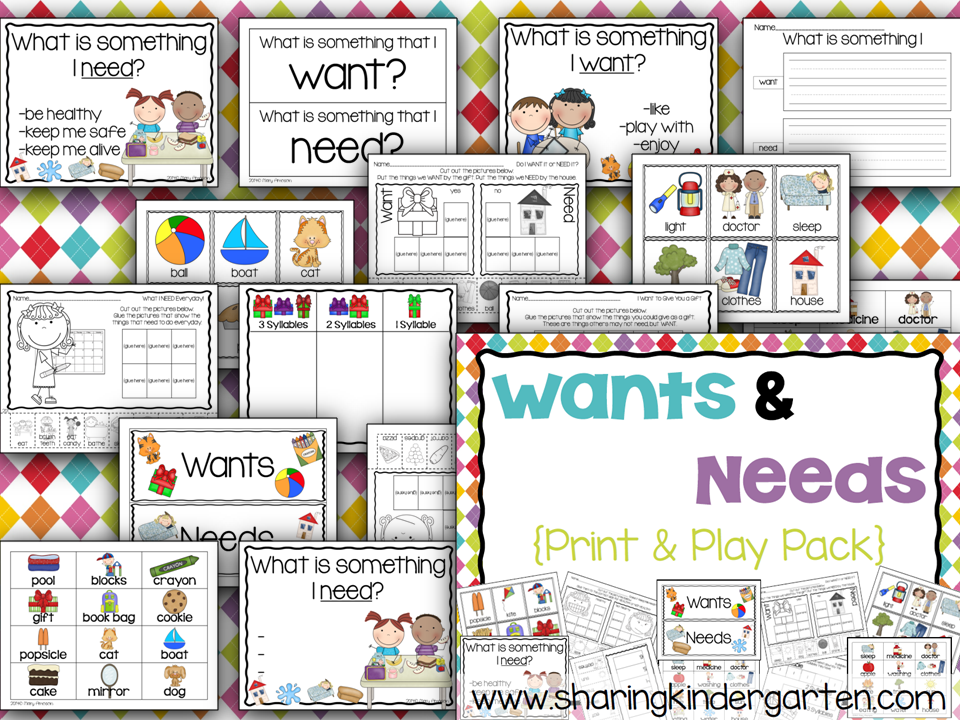 http://www.teacherspayteachers.com/Product/Want-and-Need-Reader-1021104