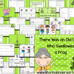There Was an Old Lady Who Swallowed a Frog Printables