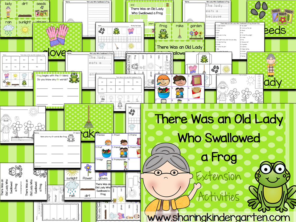 There Was an Old Lady Who Swallowed a Frog {with a Freebie}