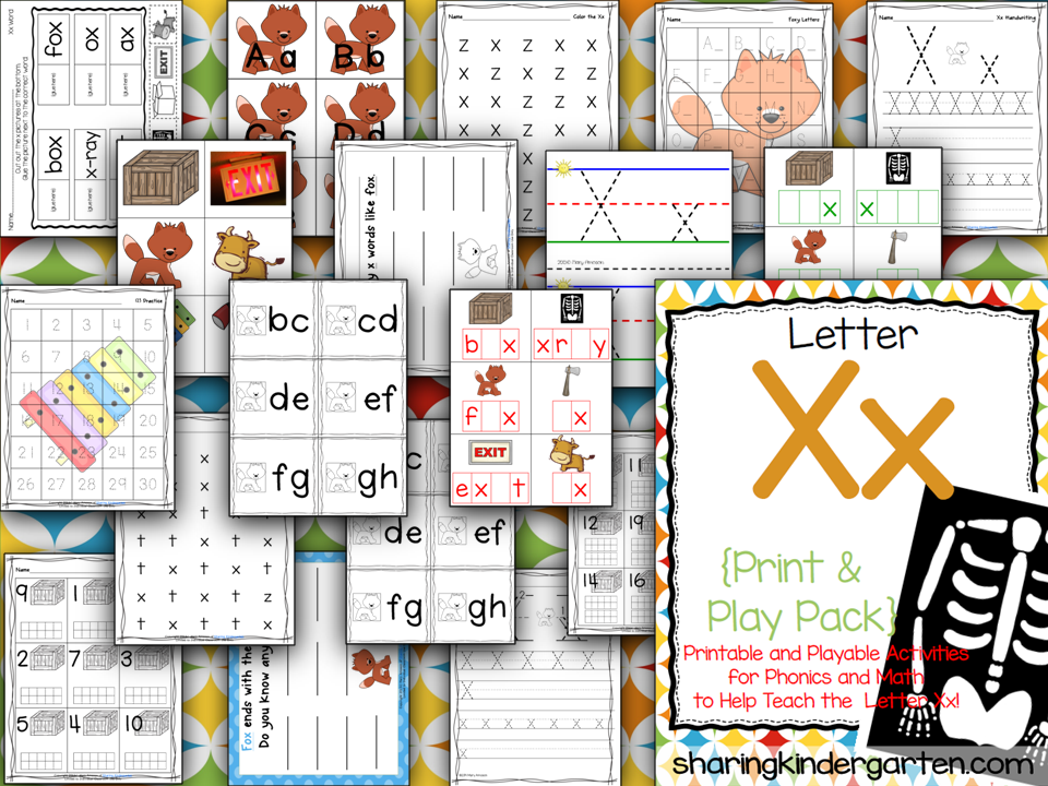 https://www.teacherspayteachers.com/Product/Letter-Xx-Print-Play-Pack-790247