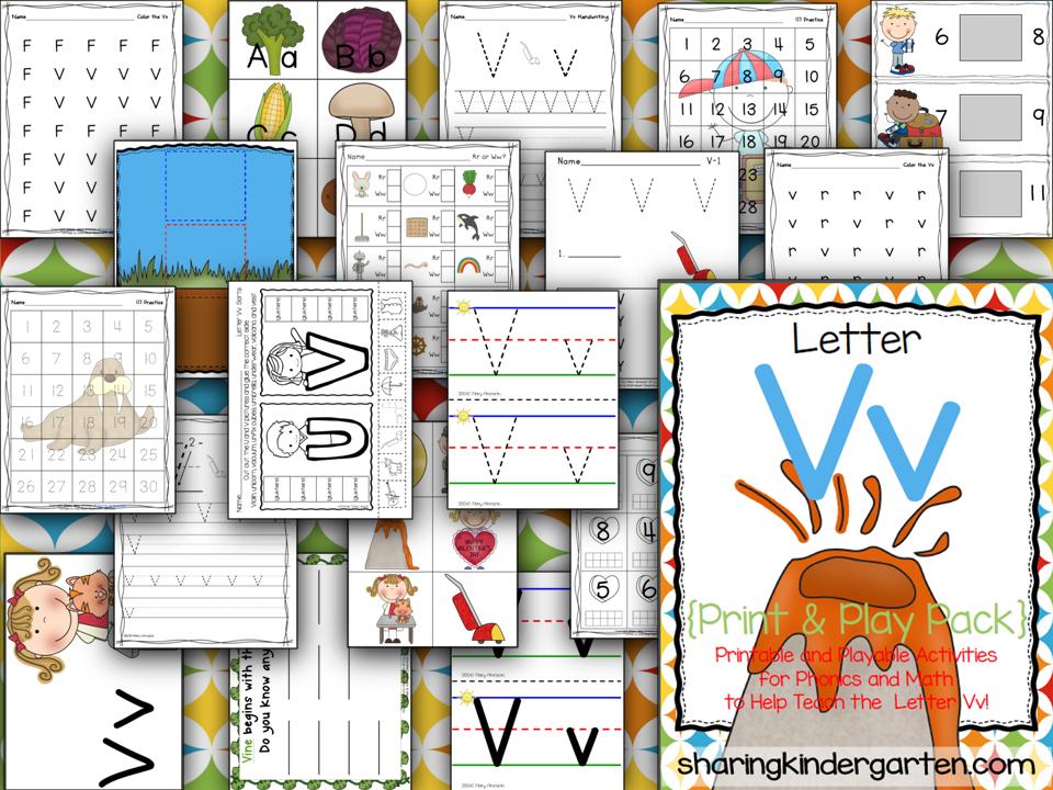 Letter Vv Print & Play