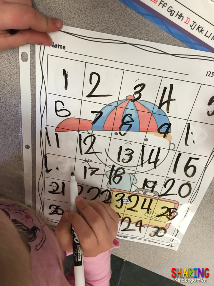 Differentiation with number writing practice.