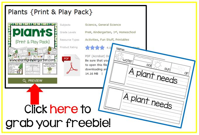 FREEBIE download for Plants