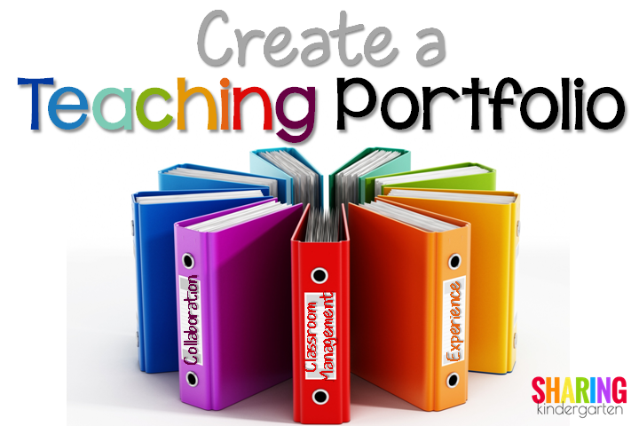 Create a Teaching Portfolio - Sharing Kindergarten