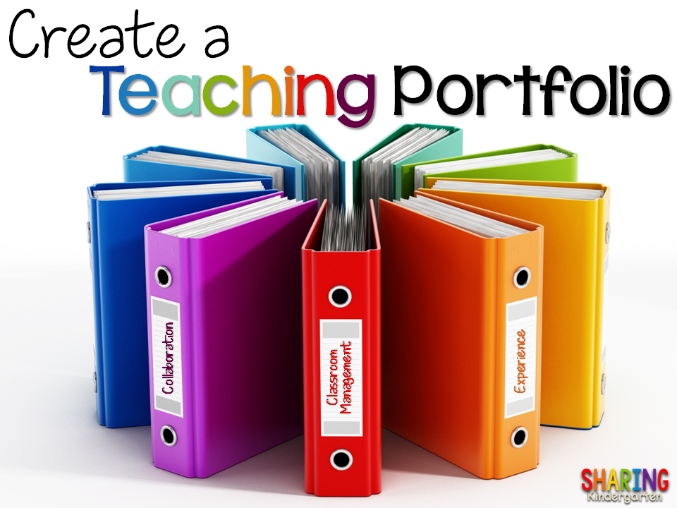 Create A Teaching Portfolio Sharing Kindergarten
