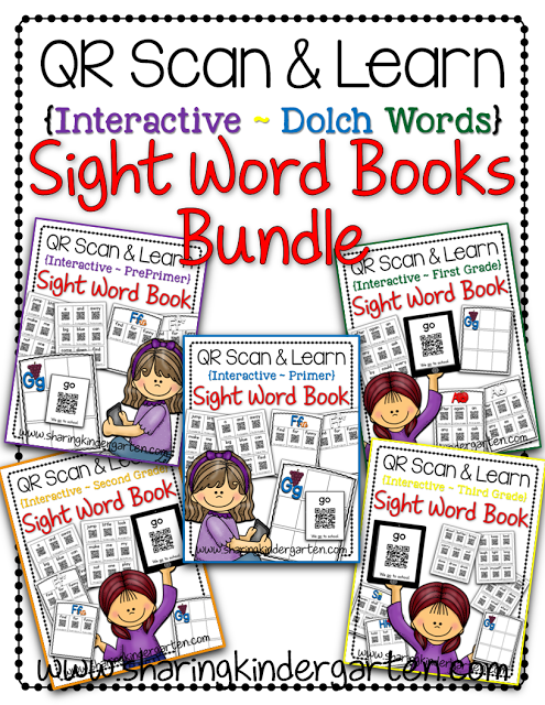 https://www.teacherspayteachers.com/Product/QR-Scan-Learn-Interactive-Sight-Word-Book-Dolch-Bundle-1641847