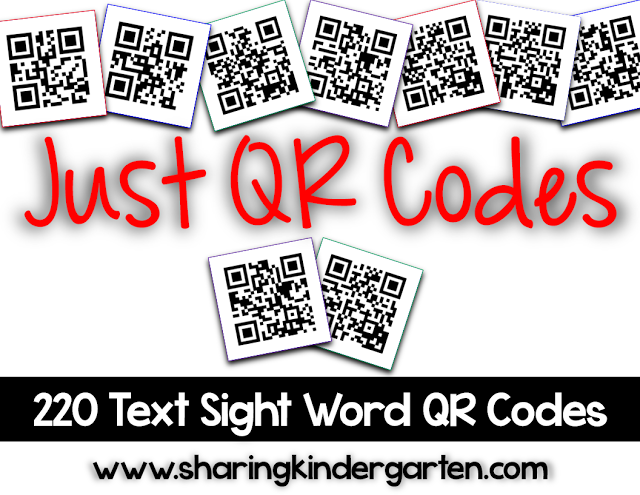 https://www.teacherspayteachers.com/Product/Just-QR-Codes-220-Text-Sight-Word-Codes-1968200