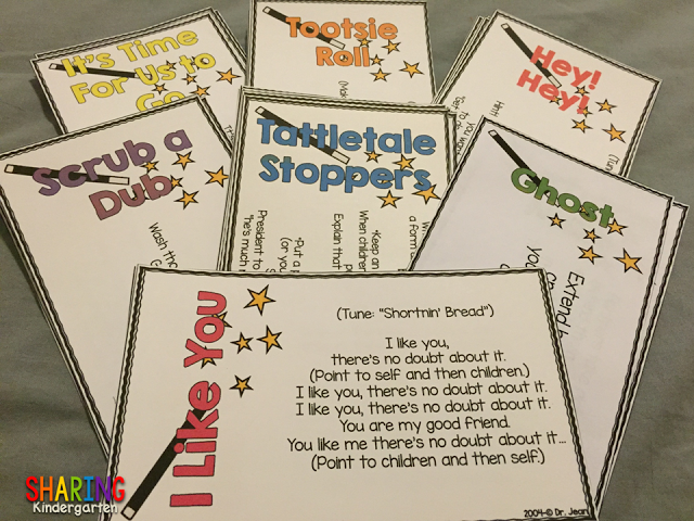Color Coded Cards sets from Dr. Jean's Transitions Tips and Tricks