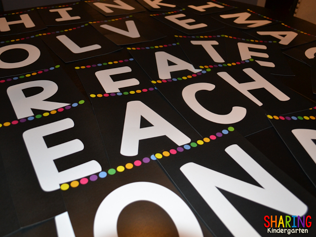 Letters to make an awesome banner for you classroom
