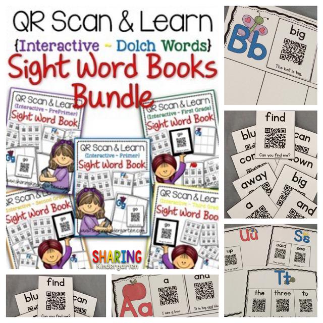 https://www.teacherspayteachers.com/Product/QR-Scan-Learn-Interactive-Sight-Word-Book-Dolch-Bundle-1641847