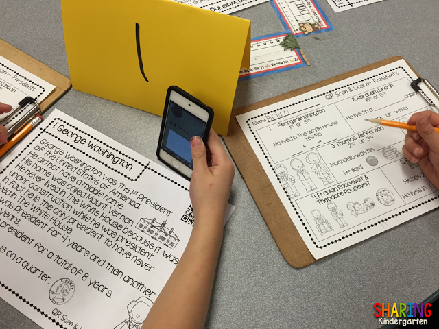 QR Codes for Presidents... your kinders will love it!