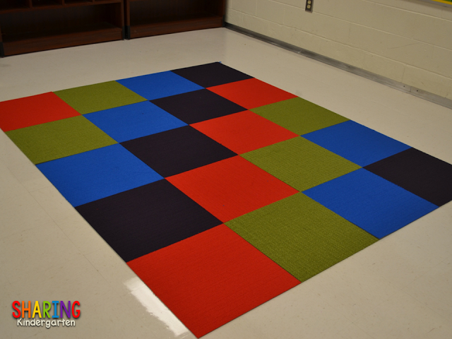 Carpet idea from Sharing Kindergarten