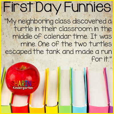 check up these first day of school stories