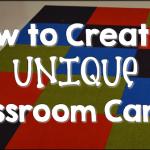 How to Create a UNIQUE Classroom Carpet