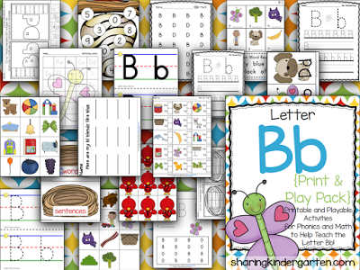 Letter Bb Printables and Playable Activities