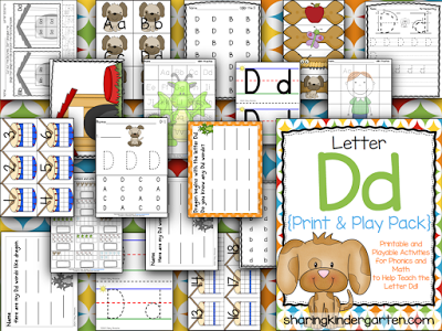 Letter Dd Printables and Playable Activities