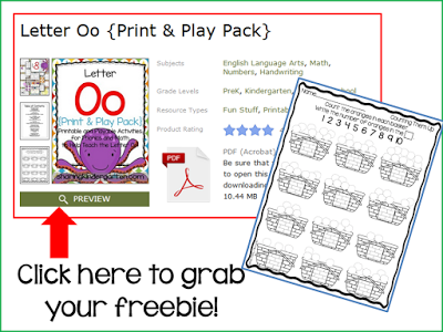 https://www.teacherspayteachers.com/Product/Letter-Oo-Print-Play-Pack-713112