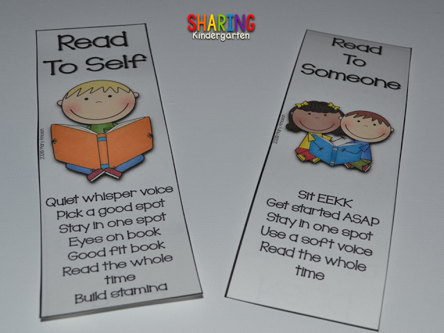 read to self and read to someone FREEBIE bookmarks