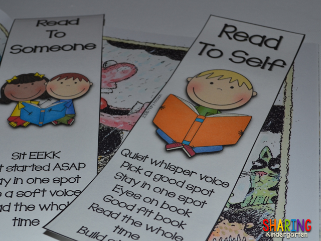 check out these freebie bookmarks from Sharing Kindergarten