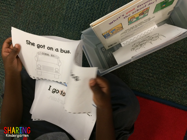 students reading in kindergarten