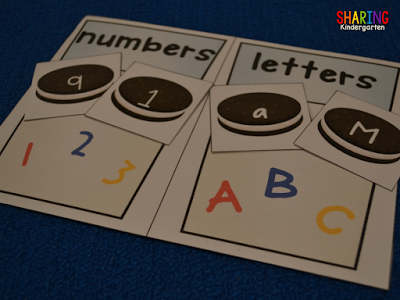 number and letter cookie sorting