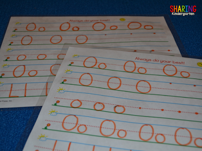 GREAT letter writing practice idea