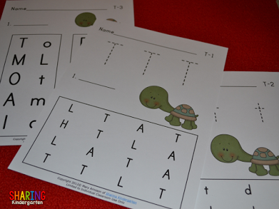 phonics activities for the letter T