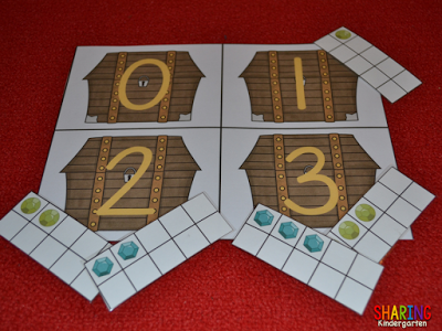 All About the Letter T: Treasure themed JEWEL number sense game