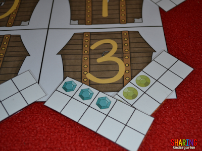 All About the Letter T: Number sense game with jewels